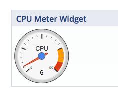 Screenshot von CPU Meter