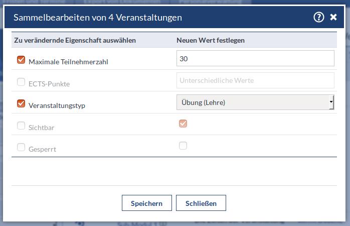 Screenshot von AdminSammelbearbeiten