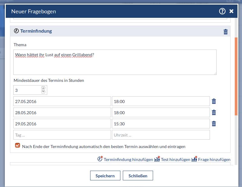 Screenshot von Datefinder