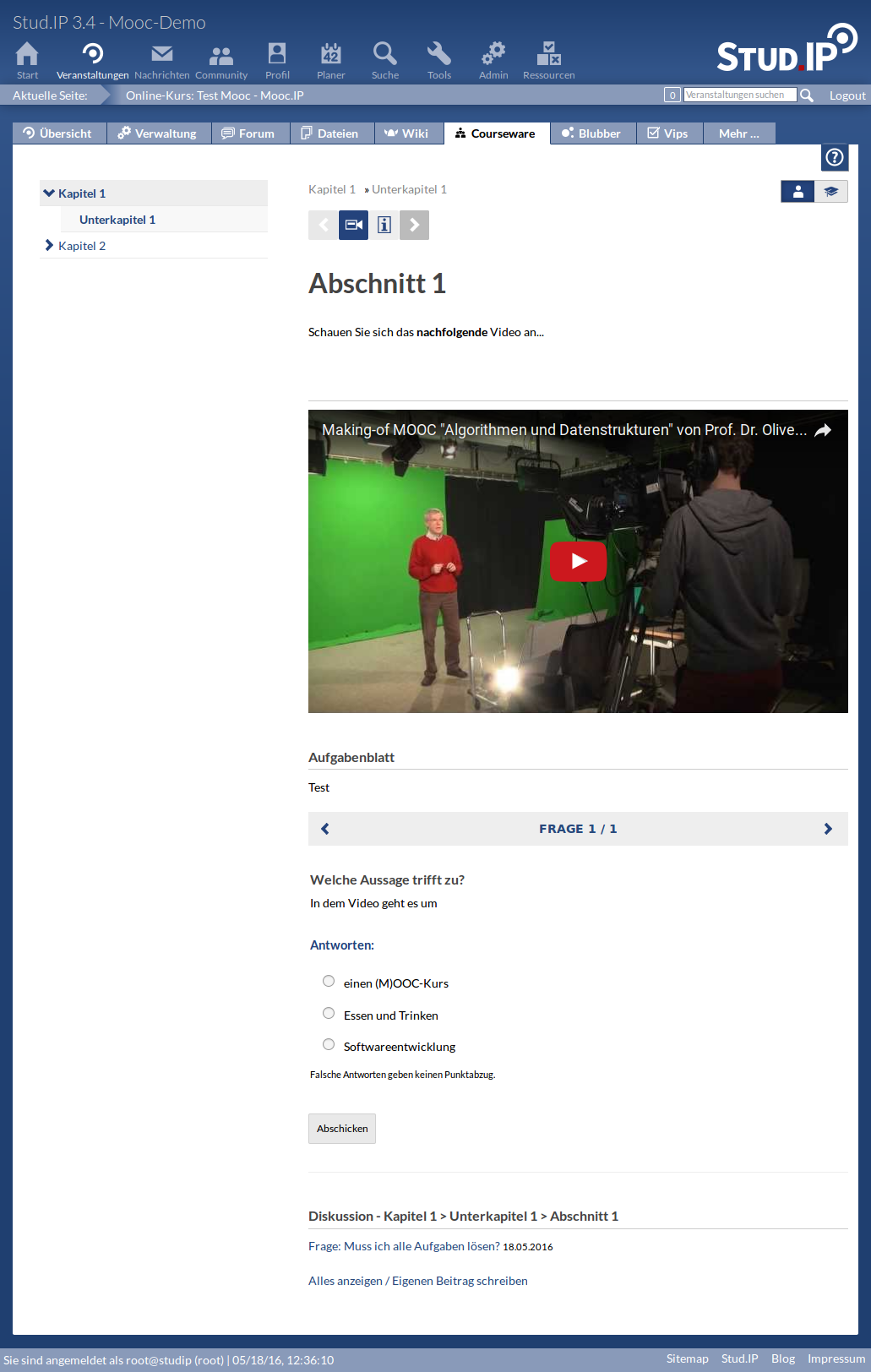 Screenshot von Mooc.IP - Courseware